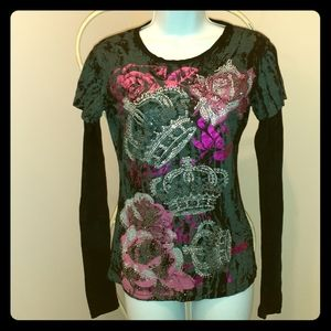 3 for $25- Crown & Rose Long sleeved Tee Size S